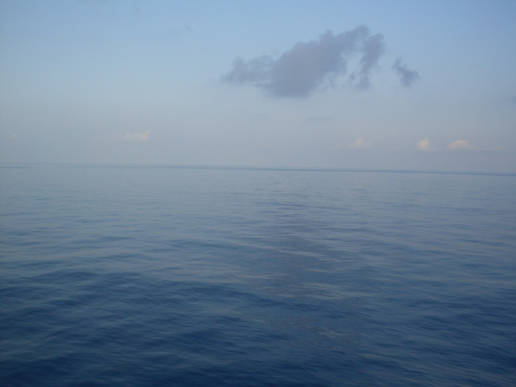 This was our view on our two sea days -- water as far as the eye can see!